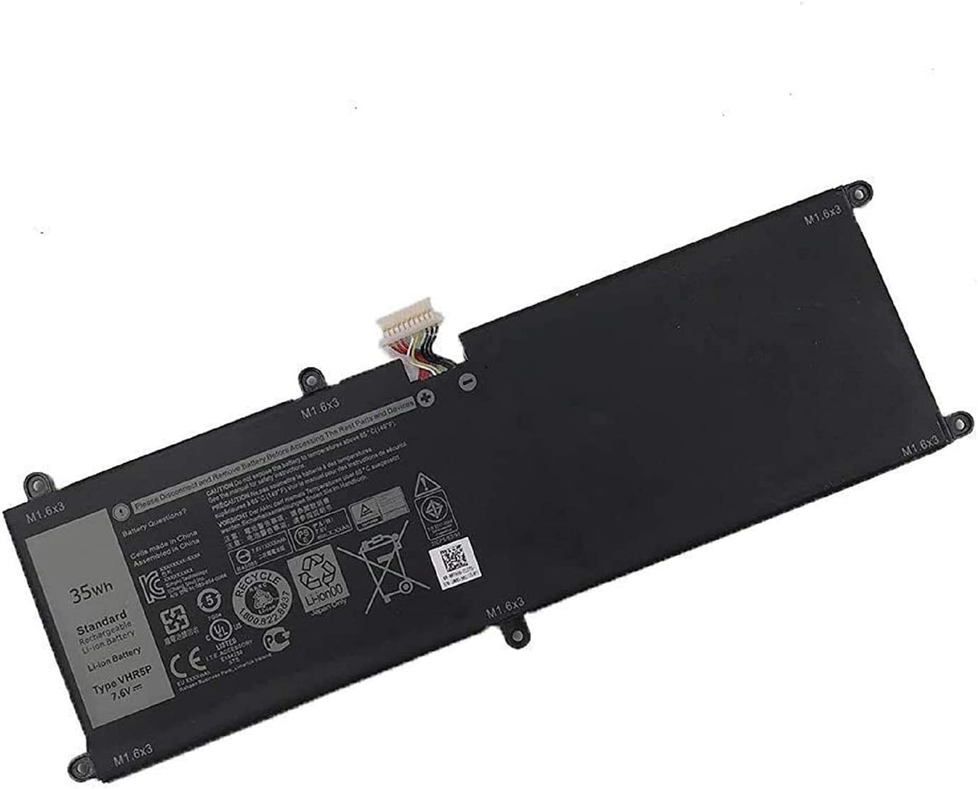 TanDirect New VHR5P 35Wh Replacement Laptop Battery Compatible with Dell Latitude 11 5175 XRHWG RHF3V 0XRHWG Tablet Series