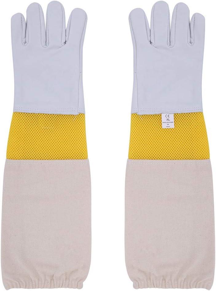 Beekeeper Bee Gloves Beekeeping gloves 100/% Cotton /& Goat skin leather-2XL