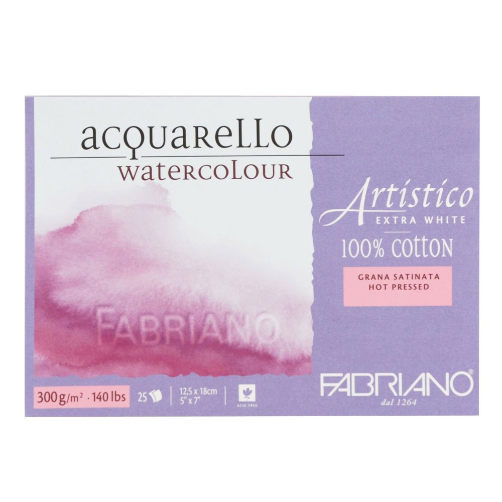 Fabriano - 71-00301218- AEW BL 4CO Watercolour Paper- 12.5x 18cm Extra White