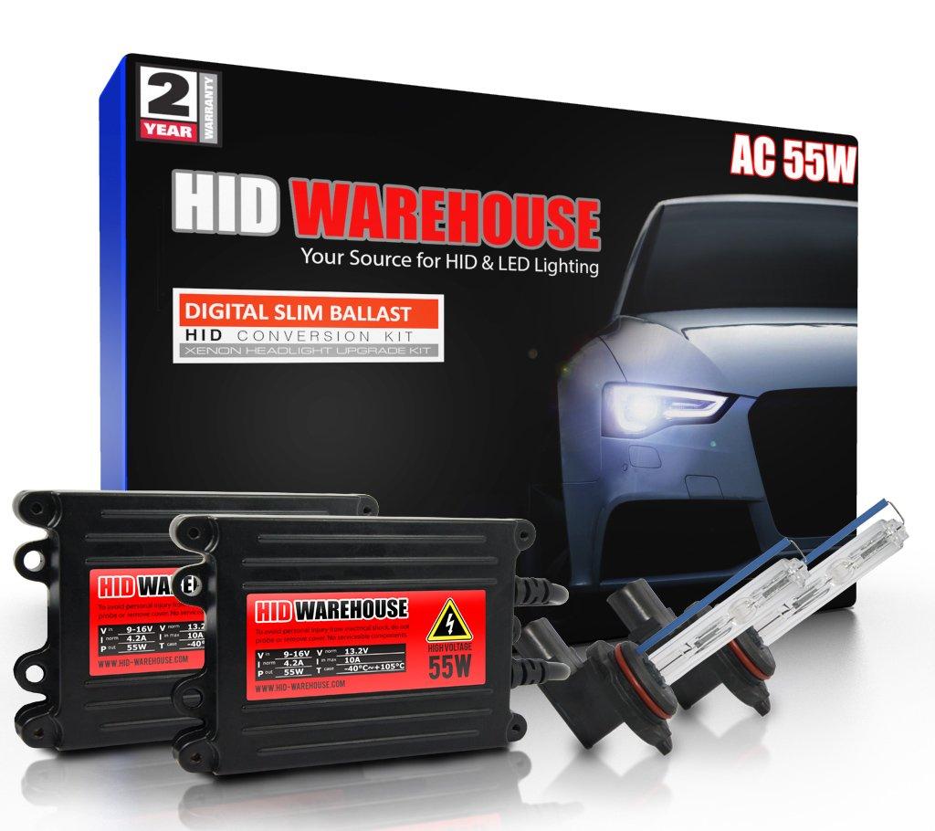 HID-Warehouse AC 55W HID Xenon Conversion Kit with Premium Slim Ballast - 9012 5000K - Bright White - 2 Year Warranty