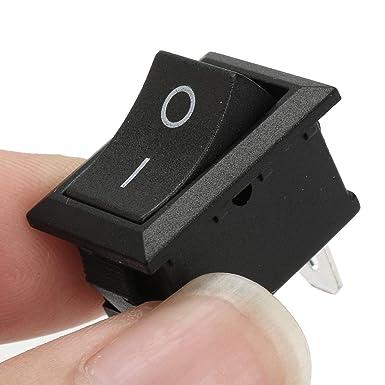 2pin 10 A 250 V T125/55 Plastique Interrupteur à bascule bipolaire pour  canal Mr-2 Série: Amazon.fr: Commerce, Industrie & Science