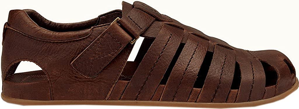 0967b5ef0b75 OluKai Mohalu fisherman sandals Brown Size  8 UK Men  Amazon.co.uk  Shoes    Bags