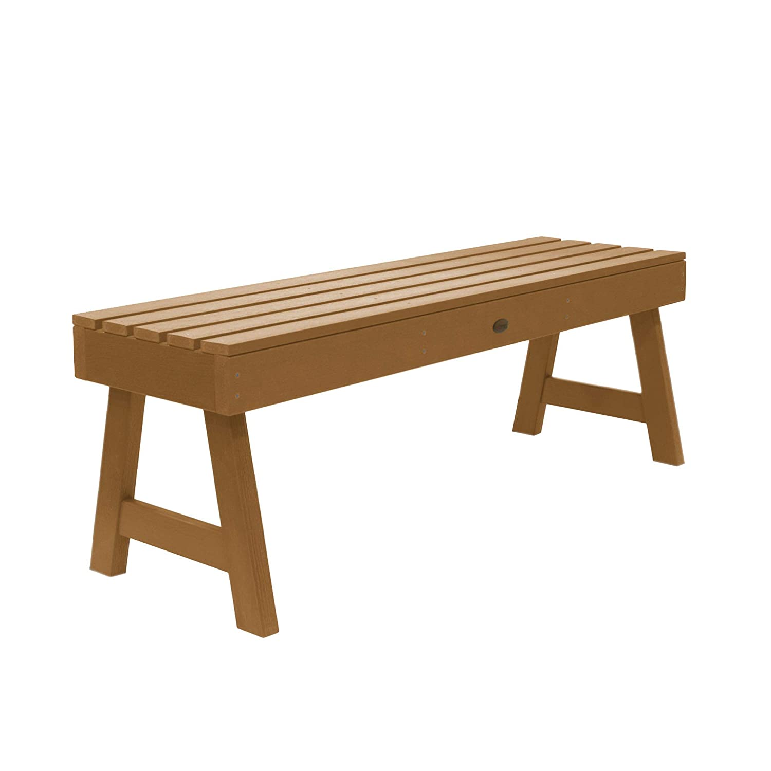 Highwood Weatherly Backless Bench, 4-Feet, Charleston Green