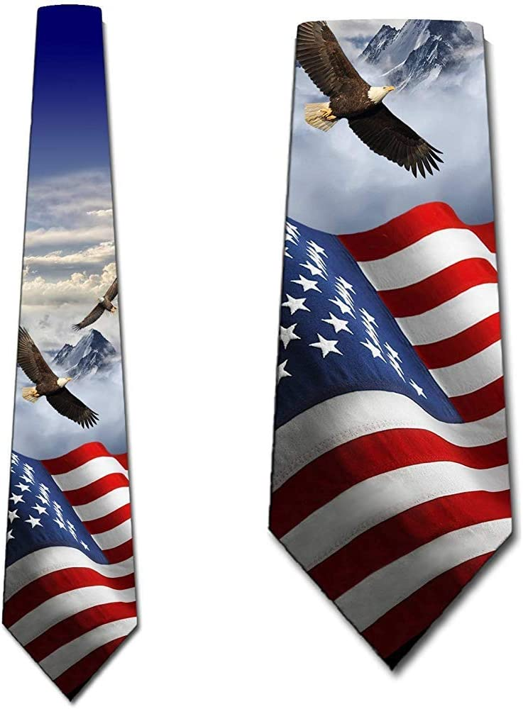 La bandera de los EEUU ata la corbata patriótica del águila de los ...