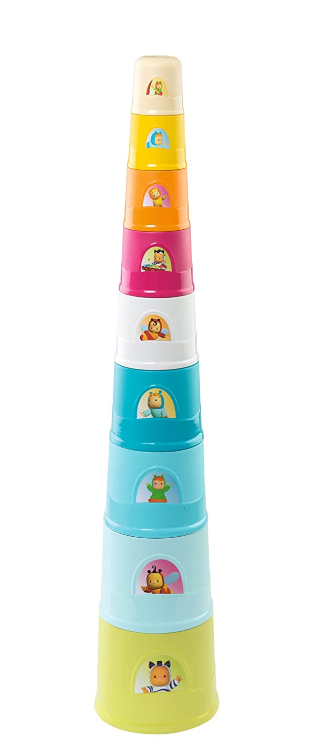 Smoby - 110407 - Cotoons Super Magic Tower - Jeu d'Eveil - 9 Gobelets - 73 cm