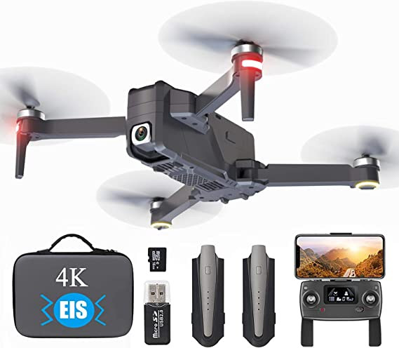 aovo 4K EIS Drone with UHD Camera for Adults With 30 Mins Flight Time,Brushless Motor,5GHz FPV Transmission,Auto Return Home,Follow Me Drones for Beginners