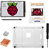"""OSOYOO Raspberry Pi 3 3.5"""" LCD Touch Screen Display Monitor + Clear Case + 2PCS Cooling Heat Sinks + Screwdriver Kit"""