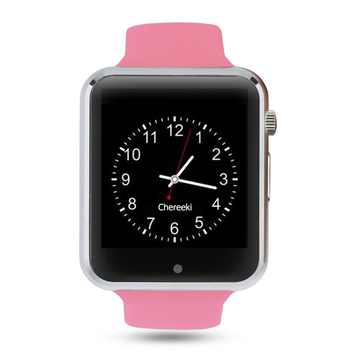 Android Bluetooth Smartwatch [Correa suave], CHEREEKI Reloj de ...