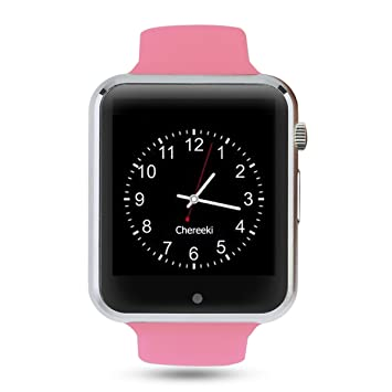 Android Bluetooth Smartwatch [Correa suave], CHEREEKI Reloj de pulsera deportivo con pantalla táctil. smartwatch soporta tarjetas SIM/tarjetas TF ...