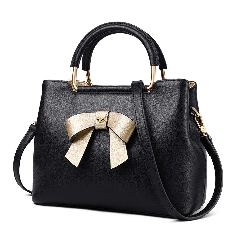 36b600b33893 FOXER Women Leather Handbags Purse Top Handle Crossbody Bag Leather Tote  Shoulder Bag