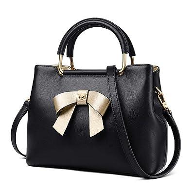 74b1a5185 Amazon.com: FOXER Women Leather Handbags Purse Top Handle Crossbody Bag  Leather Tote Shoulder Bag (Black): Shoes