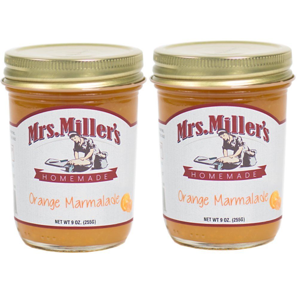 Mrs Miller's Amish Made Orange Marmalade 9 Ounces - 2 Pack