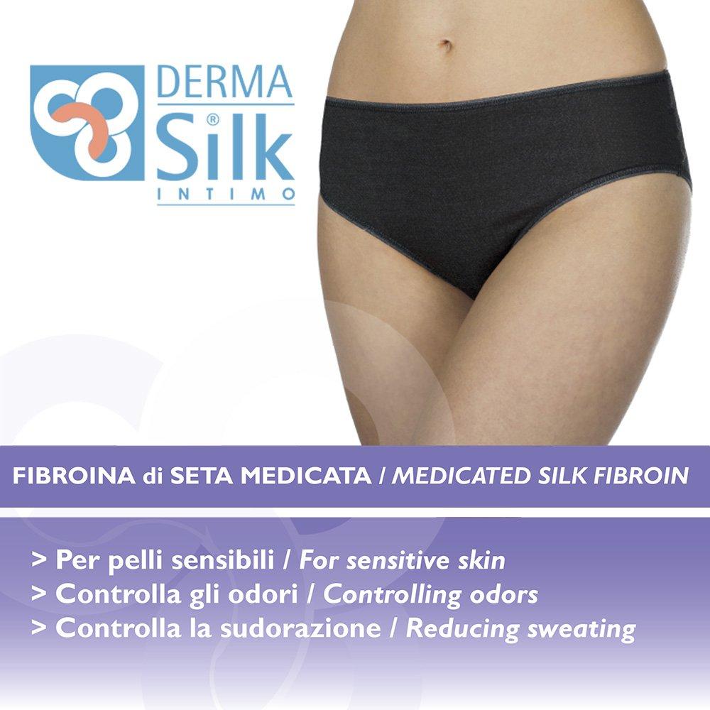 54//56 Set DermaSilk 3 Slip Comfort Black in Fibroina di Seta XXL