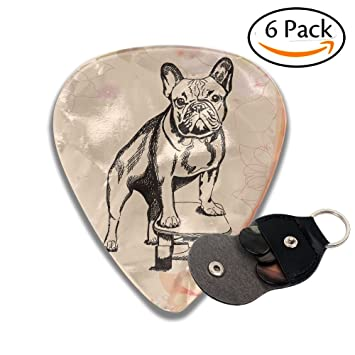 Monopatín perro púas de guitarra 6 unidades mejor calcetín stuffer Regalos para hombres mujeres guitarra tres tamaños a elegir: Amazon.es: Hogar