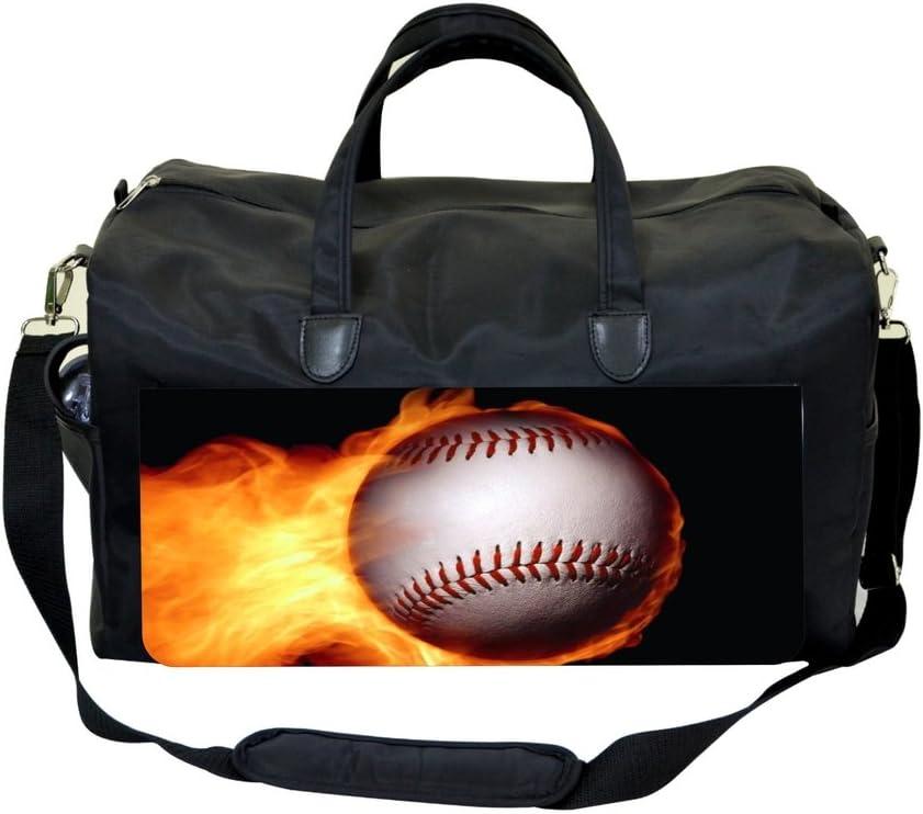 Flaming Baseball Design Sports Bag
