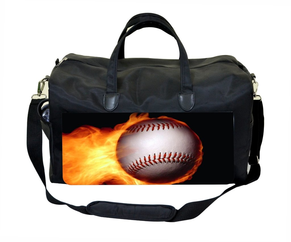 Flaming Baseball Design Weekender//Overnighter Bag