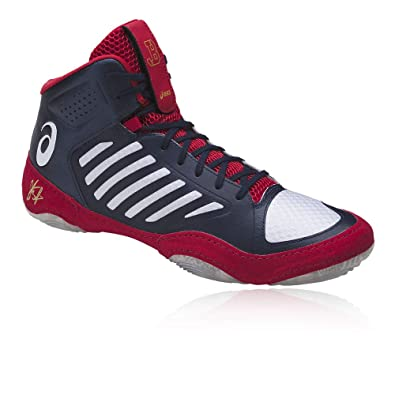 781ff89eeb ASICS Men's Jb Elite III Indigo Blue/White/Classic Red Wrestling Shoes-6