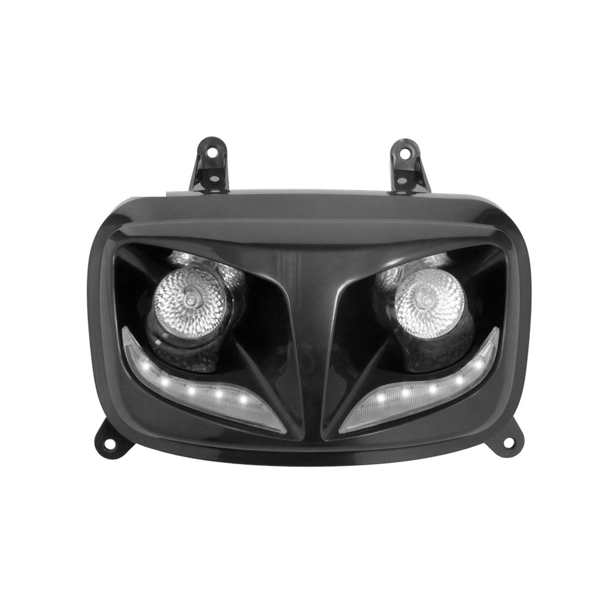 TNTTU Double Optique 2 Lampes Halogè ne et LED Eyelight Adaptateur Booster, Noir/Blanc SACIM Distribution 201307A