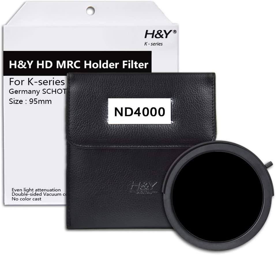H/&Y K-Series HD MRC Holder Filter 95mm ND 4000 for Holder Only 12-Stop Reduction