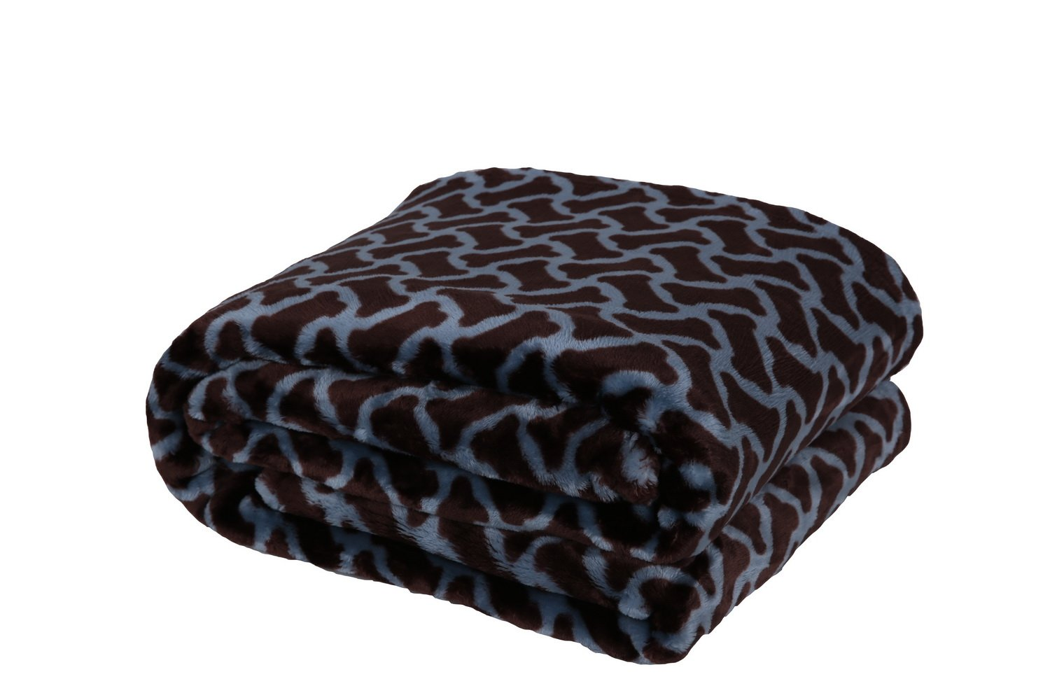 HappyCare Textiles 047393528933 Printed dog paw Flannel throw blanket, Coffee