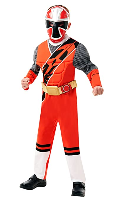 Dlx  Red Ranger - Ninja Steel - Power Rangers - Childrens Fancy Dress  Costume -