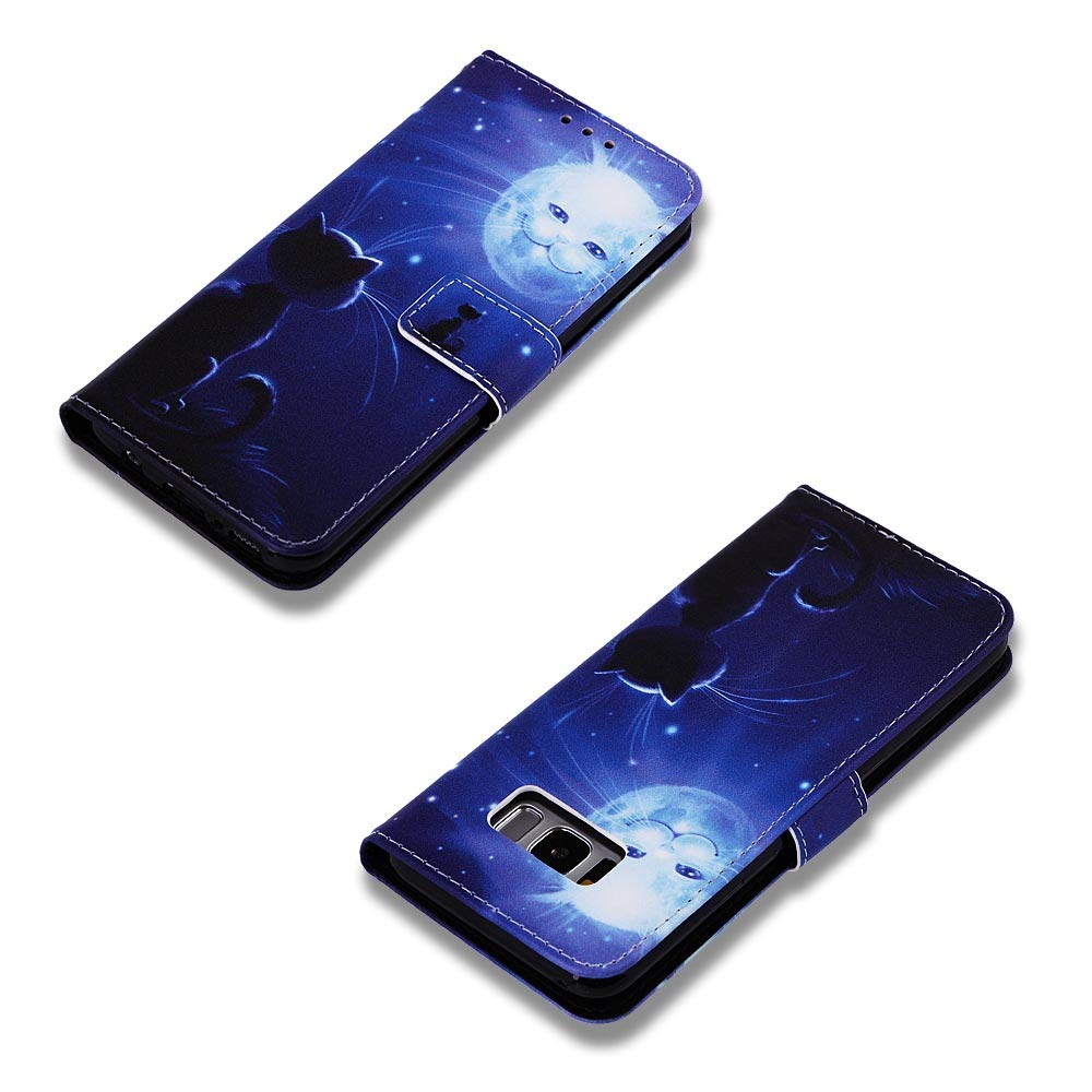 Custodia Portafoglio a Libro Pelle Porta Carte Chiusura Magnetica Antiurto Leather Wallet Case per Samsung Galaxy S8 Lomogo Flip Cover Samsung Galaxy S8 G950 LOYBO450193 L3
