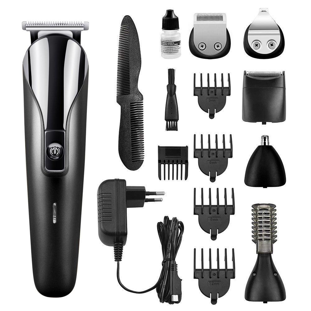 Tondeuse Cheveux Hommes, Vobon 6 en 1 Tondeuse Barbe pour Homme Rechargeable Multifonctionnelle, Tondeuse à Barbe / Cheveux / Sourcils / Corps / Nez / Oreilles avec 5 Sabots product image
