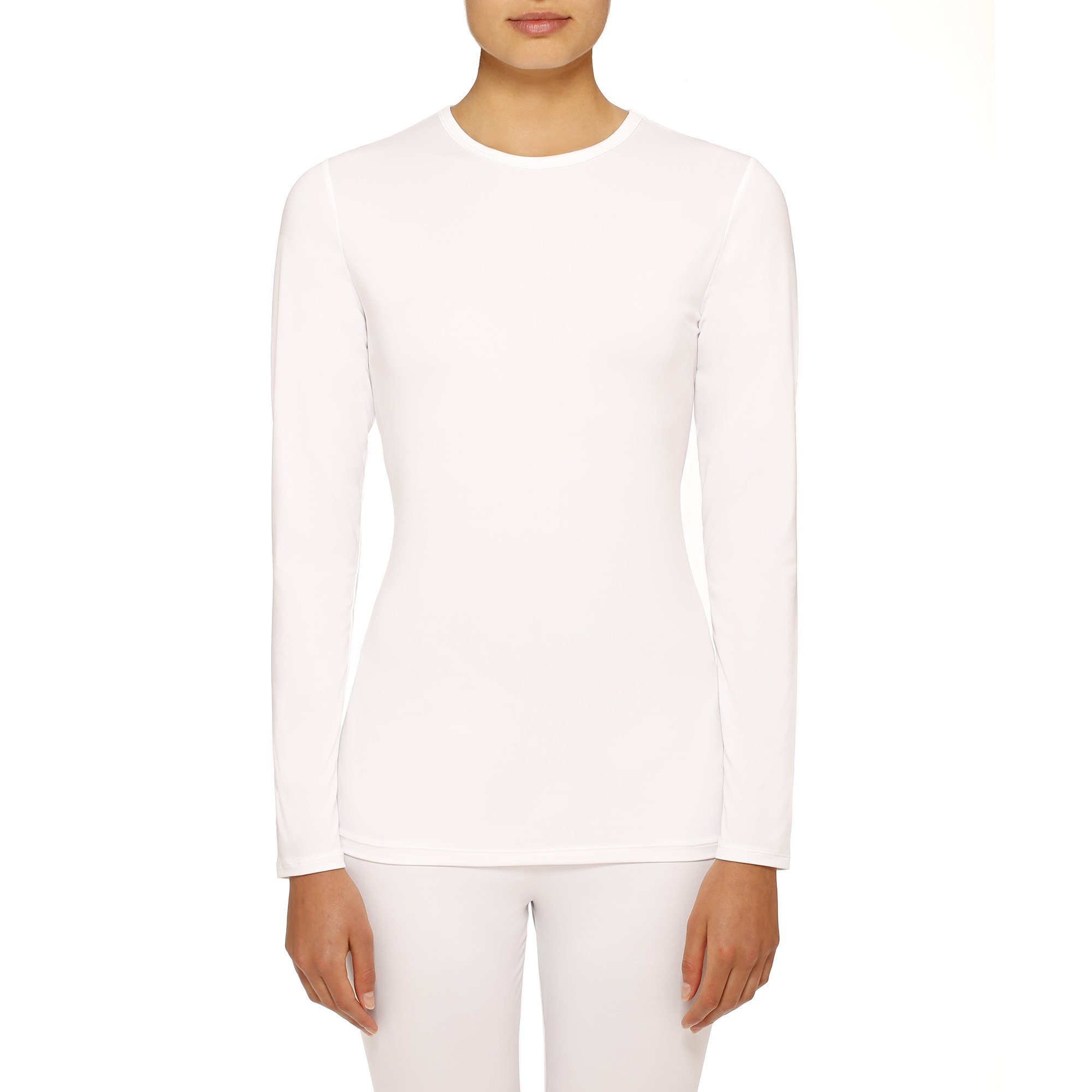 Womens Climate Right Thermal Top, Large, White