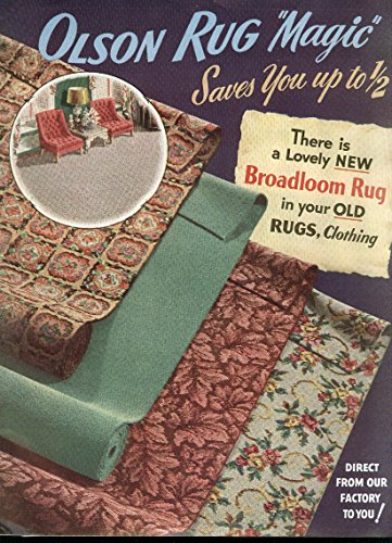 Rug 1952 (Olson Rug Magic catalog 1952 with envelope order forms etc)