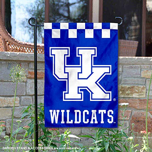 College Flags and Banners Co. Kentucky Wildcats Checkerboard Garden Flag