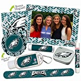 Philadelphia Eagles Deluxe Variety Set with Nail File, Mint Tin, Mini Mirror, Magnet Frame, Lip Shimmer, Lip Balm, Sanitizer. NFL gifts for women Mother's Day, Stocking Stuffers