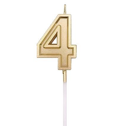 Amazon.com: URAQT - Velas de cumpleaños con números y ...