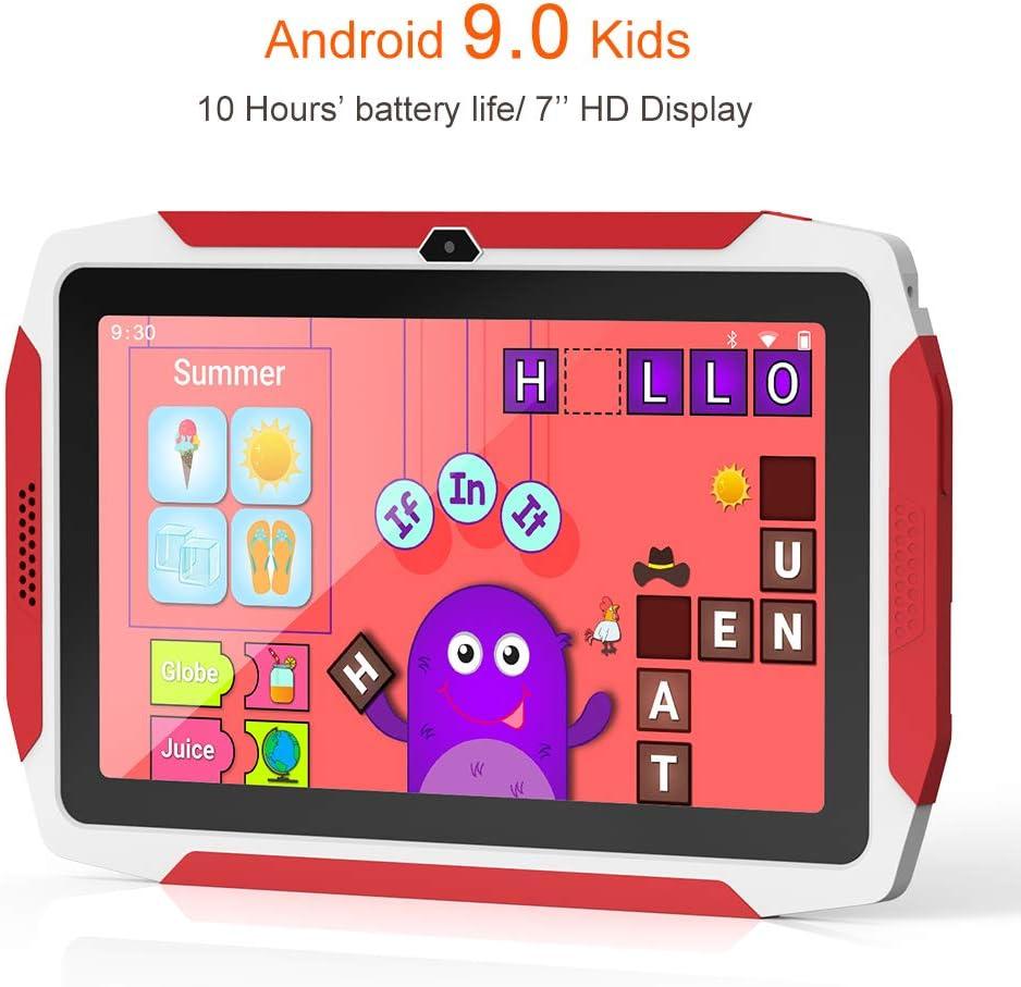 iWawa preinstalado Kid Tablet Kids Edition Tablet 7 Pulgadas Android 9.0 40+ Aplicaciones de Aprendizaje Control Parental con Funda a Prueba de ni/ños y Tarjeta Micro SD de 32 GB ROM de 16 GB