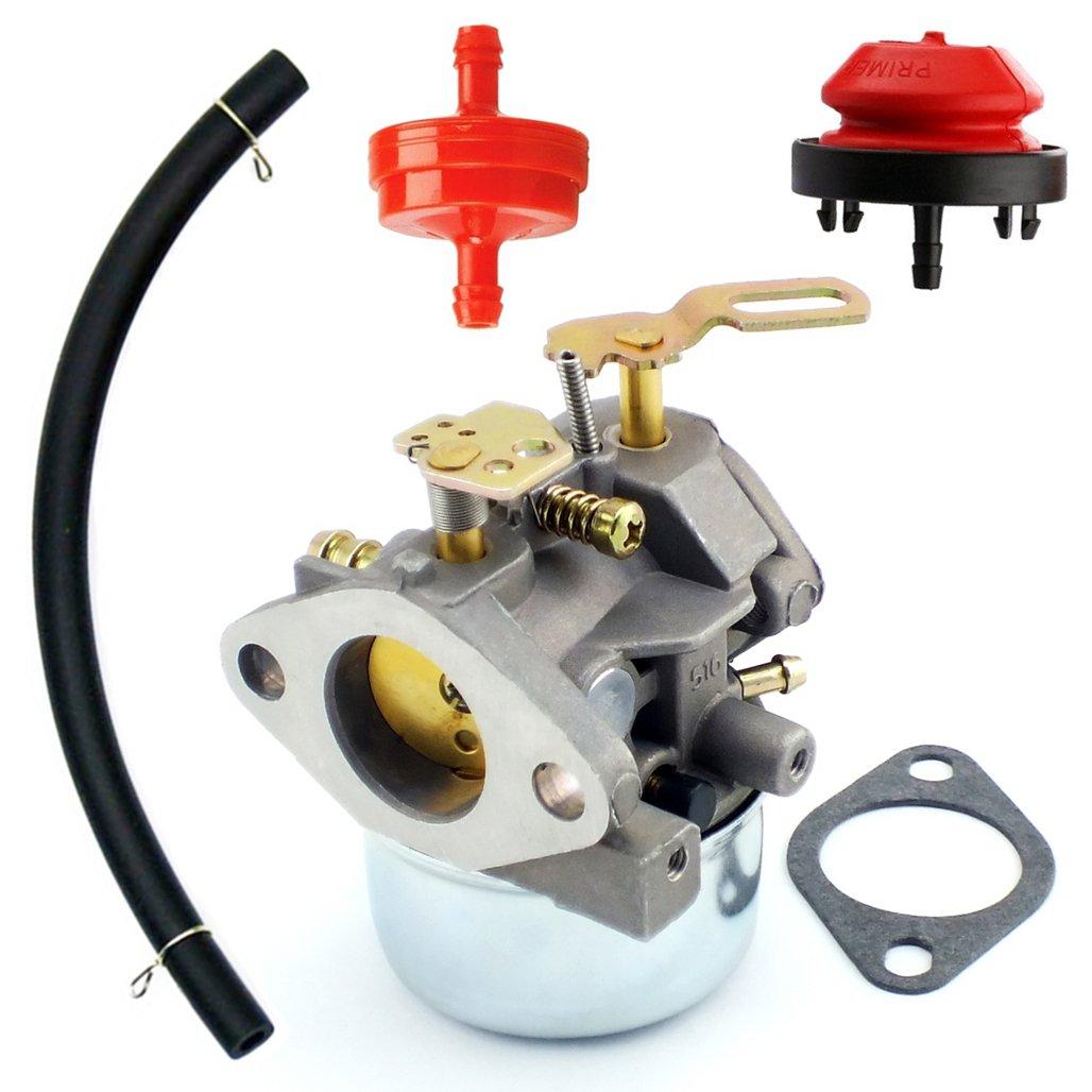 Yingshop Carburetor With Gasket Fuel Filte Line for Tecumseh 640349 640052 640054 640058 640058A HMSK80 HMSK85 HMSK90 HMSK100 HSMK110 LH318A LH358SA 8HP 9HP 10HP OREGON 50-659 Engine Snowblower Generator Chipper Shredder