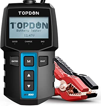 TOPDON BT200 Battery Tester,VOLCANO2000 12V Auto Lithium Battery Jump Starter Bundle-2 Items