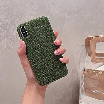 youmeilin83643 Funda de teléfono de Franela Pure Color X/XS Funda Protectora para iPhone 7 / 8plus / 6s anticaída A iPhone 7/8: Amazon.es: Electrónica