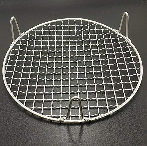 Turbokey Round Grill Barbecue Net, Cross-wire Cooling Rack 2'' Height Durable Stainless Steel Multi-Purpose Baking Barbecue Rack/Food Steamer/Cooking/Baking/Steaming Rack Dia 13'' (330mm/13'') by Turbokey (Image #5)