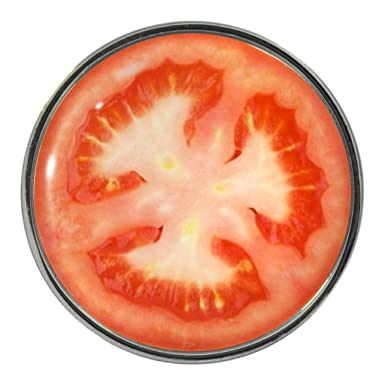 tomato slice design metal pin badge amazon co uk clothing