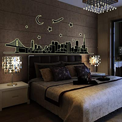 ????Wall Stickers Romance Decoration Wall Poster Home Decor Luminous Sticker DIY For Kids Girls 2 Years Old Baby Children Toddlers ,Apply to Furniture Dining Meeting Room Furniture Freezer Cabinets (A): Home & Kitchen