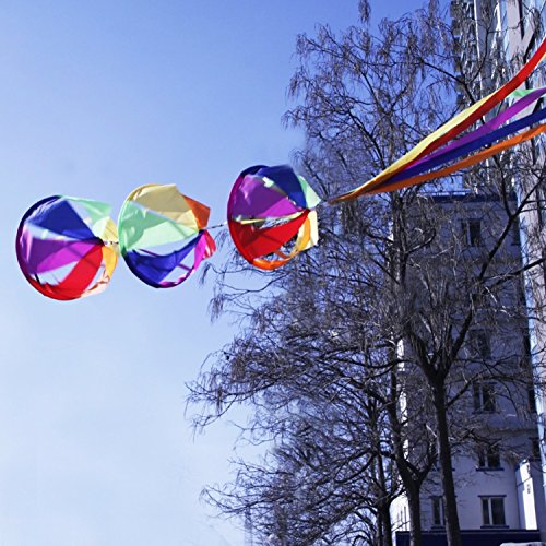 Rainbow Nylon Windsock Wind Spinner Colorful Outdoor The Brilliant Colors Make A Cozy Feeling. Beautiful And Cute Full Nylon,, (Wine God Costume)