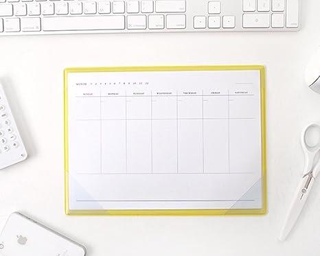 Amazon.com : Simple Desktop Weekly Planner Pad Undated ...