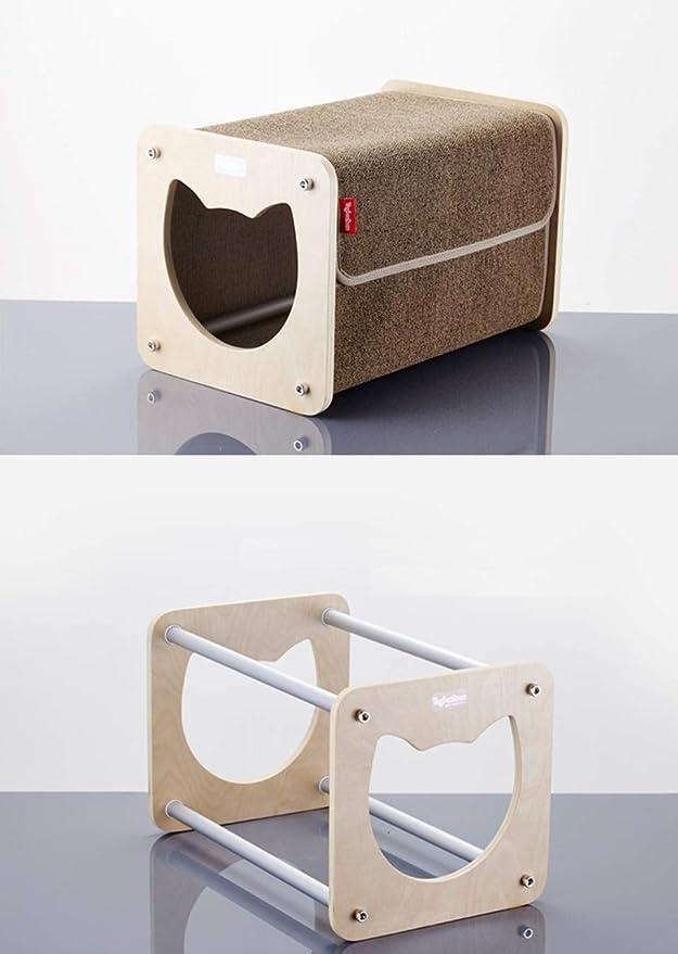 giocattoli gatti Cestino pieghevole e comodo coperte e guinzagli ECOSCO giocattoli per animali domestici in feltro