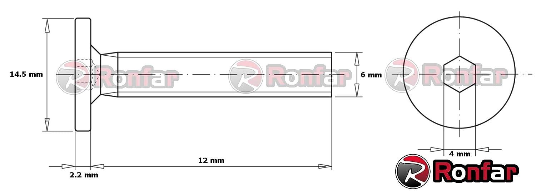 enti/èrement filet/ées M6 x 20mm 50 pi/èces Ronfar Vis /à t/ête cylindrique /à six pans creux pour meubles avec filetage m/étrique