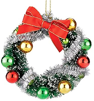 Department 56 Here Comes Santa Claus Retro Wreath Ornament