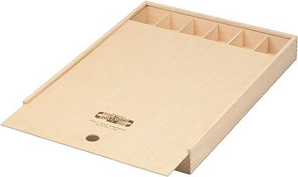 Koh-I-Noor Caja de madera con tapa corredera, grande, para lápices ...
