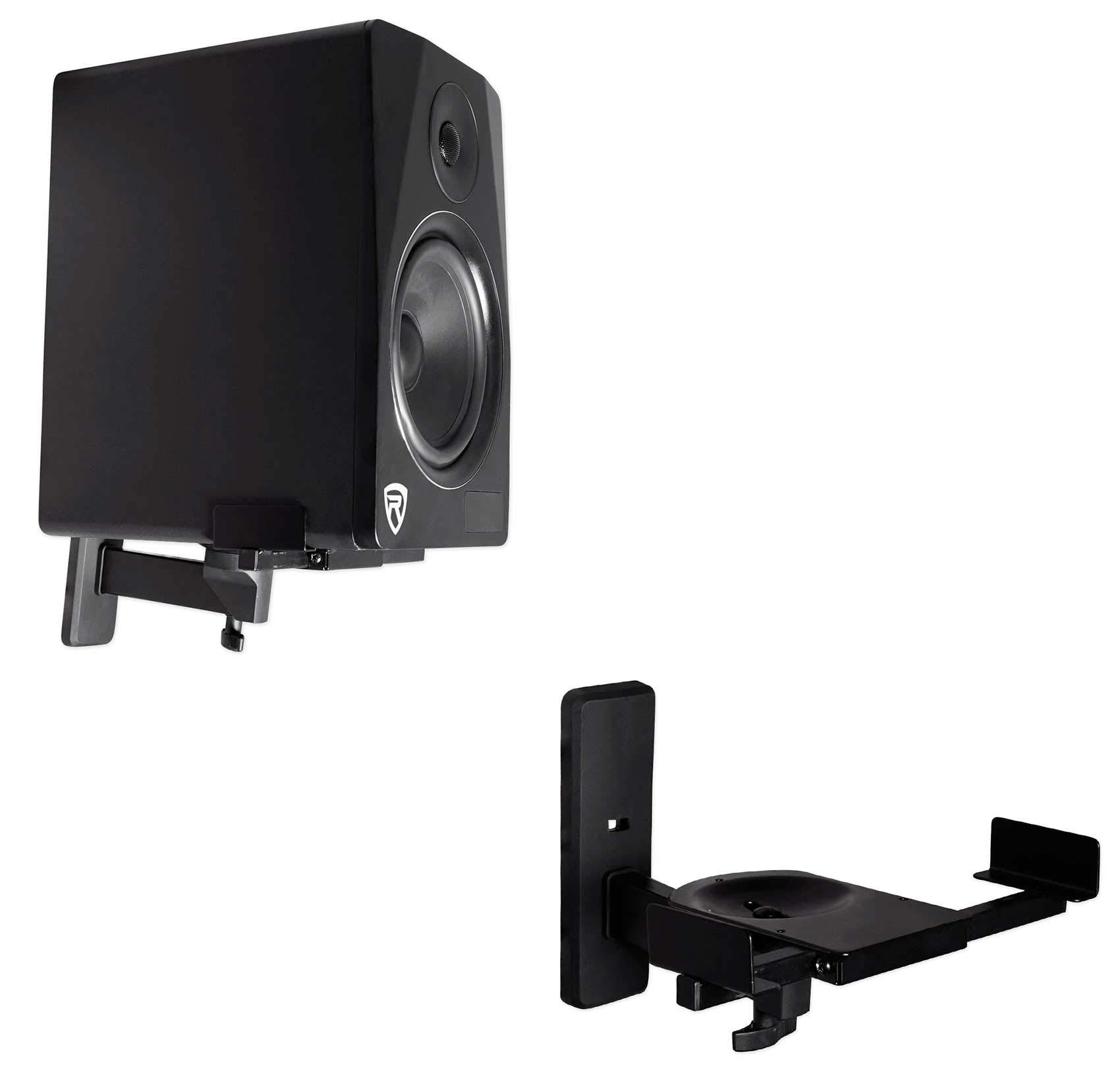 2 Rockville Wall Mount Swivel Brackets Mackie CR3 Studio Monitor Speakers
