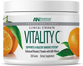 product image for American Nutriceuticals Vitality C - 200 grams | Ultra High-Potency Vitamin C Powder Without Gastric Distress| Enhanced Absorption, Neutral pH with GMS-Ribose Complex