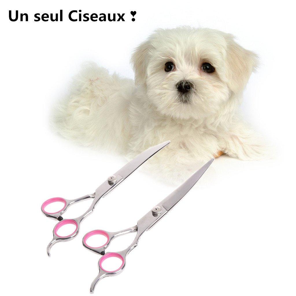 Lunji Ciseaux INOX pour Chien et Chat pour Toilettage - Haute Qualité