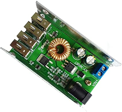 24V//12V To 5V 5A Step Down Power Supply DC-DC USB Interface Converter Replace