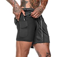 XuyIeY Pantalón Deportivo para Hombre Running, Shorts